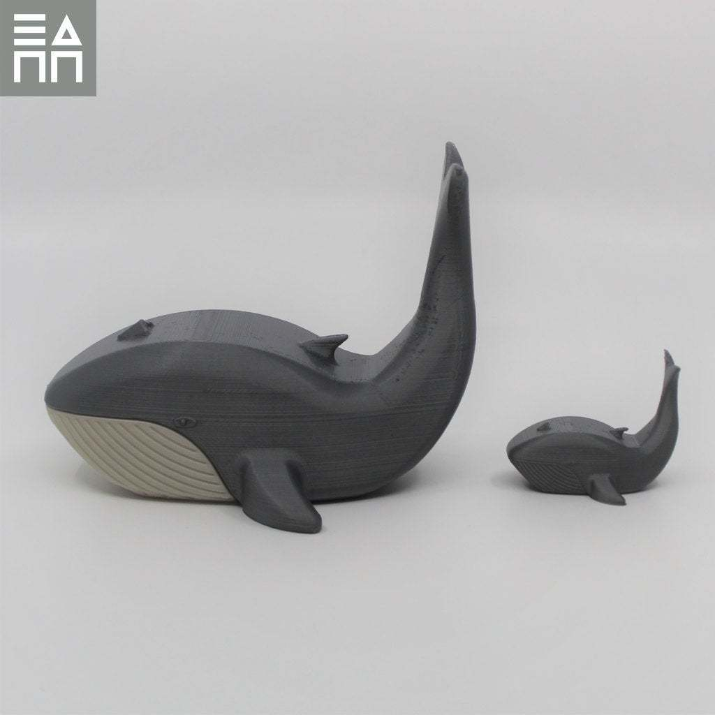 Bab_Following.jpg Download free STL file Blue Whale Mama & Baby • 3D printing object, 3DPrintProjectAthens
