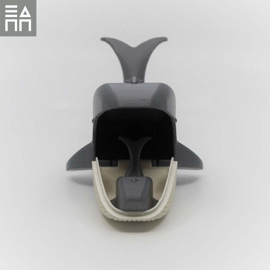 Front_Baby_In_Mouth.jpg Download free STL file Blue Whale Mama & Baby • 3D printing object, 3DPrintProjectAthens