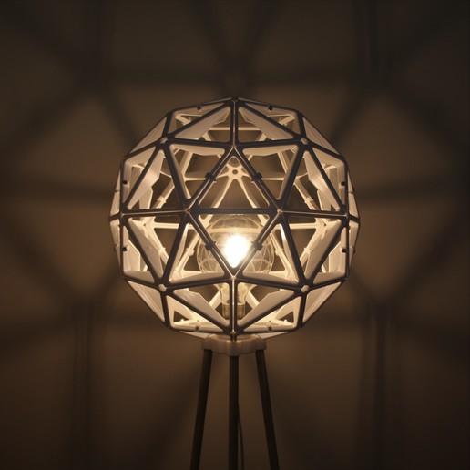 Shadow White.jpg Descargar archivo STL Esfera geodésica de sombra de lámpara • Plan para la impresión en 3D, 3DPrintProjectAthens