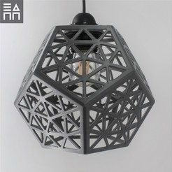 Download 3D printing templates Platonic Forest Lamp Shade , 3DPrintProjectAthens