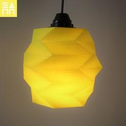 light on.jpg Download STL file Reversed Lamp Shade  • 3D printing design, 3DPrintProjectAthens