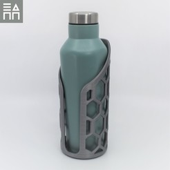 Download free 3D printer designs  Mesh Bottle Holder, 3DPrintProjectAthens