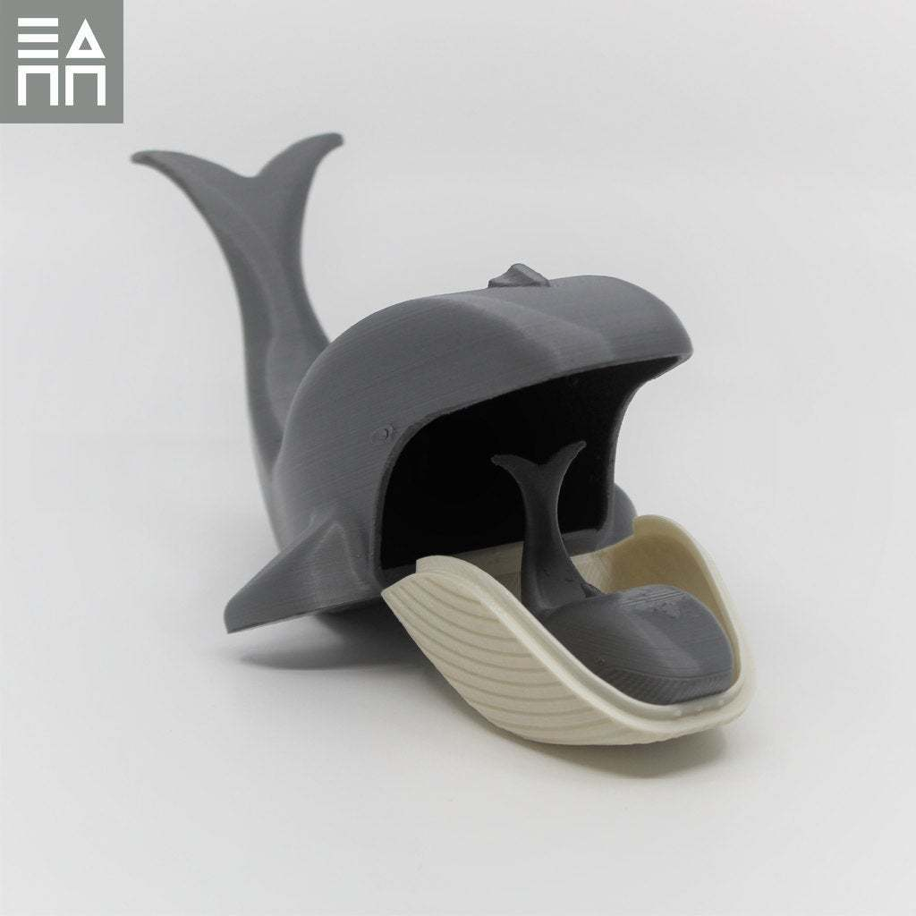 Side_Baby_In_Mouth.jpg Download free STL file Blue Whale Mama & Baby • 3D printing object, 3DPrintProjectAthens