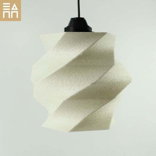 Download free STL files Flowing Lampshade, 3DPrintProjectAthens