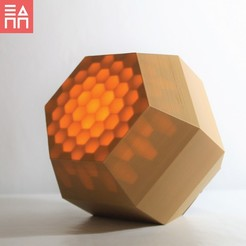 Hidden Honeycomb Light On.jpg Download STL file Hidden Honeycomb Light Box • 3D printing object, 3DPrintProjectAthens
