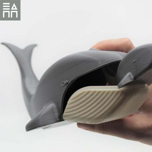 With_Hand.jpg Download free STL file Blue Whale Mama & Baby • 3D printing object, 3DPrintProjectAthens
