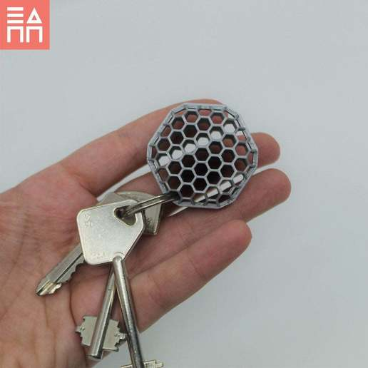 Download free STL Beehive Keyring, 3DPrintProjectAthens