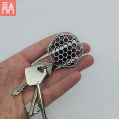 Download free STL file Beehive Keyring • 3D printing object, 3DPrintProjectAthens