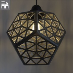 Silver Light On.jpg Download STL file Platonic Forest Lamp Shade  • 3D print model, 3DPrintProjectAthens