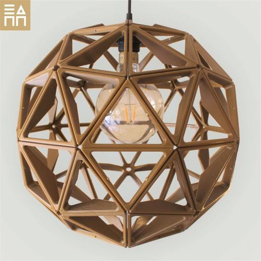 Télécharger fichier imprimante 3D Abat-jour de la sphère géodésique, 3DPrintProjectAthens