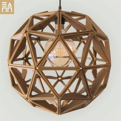 Download STL files Geodesic Sphere Lamp Shade , 3DPrintProjectAthens