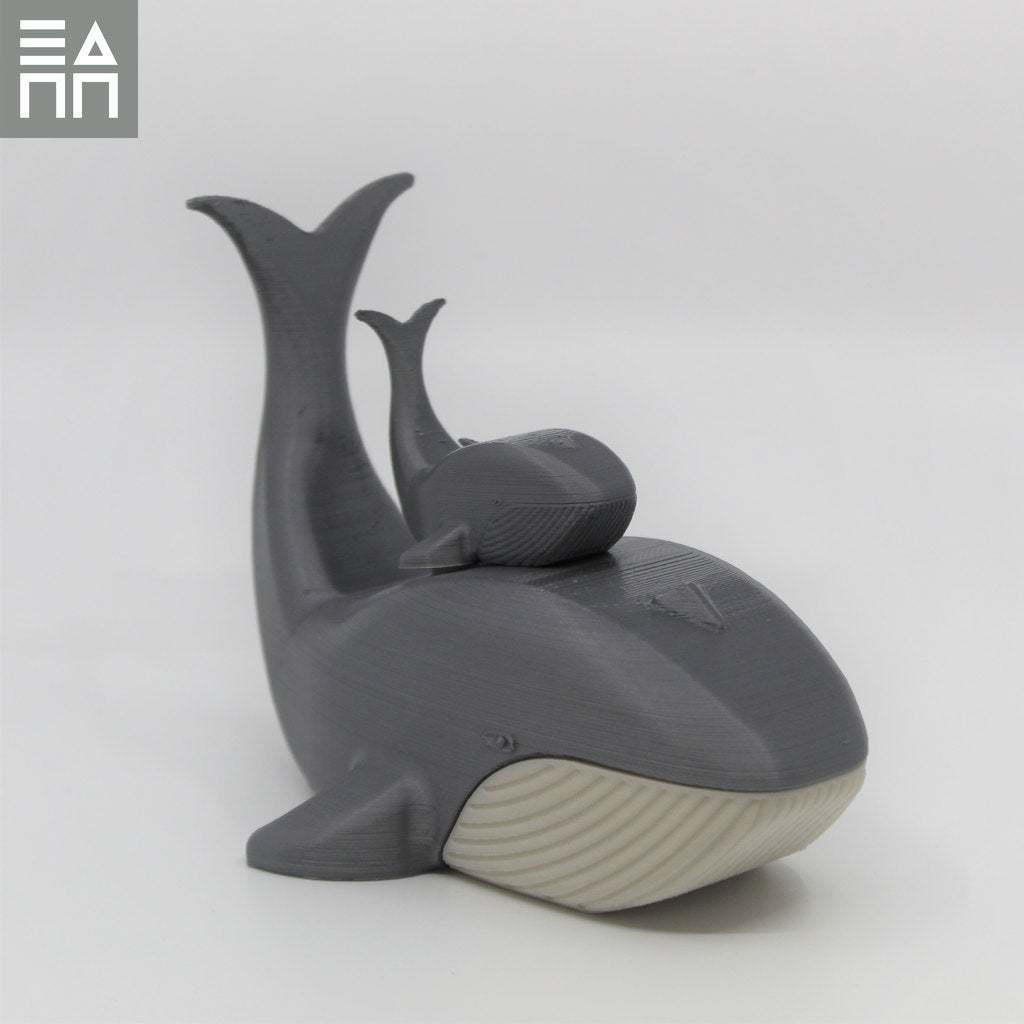 Side_Double_Stacked.jpg Download free STL file Blue Whale Mama & Baby • 3D printing object, 3DPrintProjectAthens