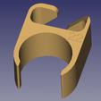 passe cable 22.png Télécharger fichier STL gratuit Passe câble pour pied de micro diamètre 22 mm • Modèle pour imprimante 3D, daniellecoq