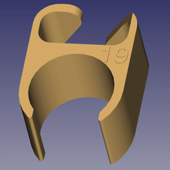 passe cable 19.png Download free STL file Cable gland for micro stand diam 19mm • Object to 3D print, daniellecoq