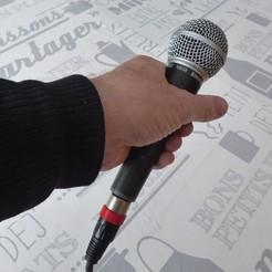 anneau micro9.JPG Download free STL file marking ring for XLR microphone • Template to 3D print, daniellecoq
