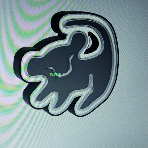 IMG20210113222047.jpg Download STL file LION KING SIMBA ( LION KING ) ILLUMINATED POSTER. • Template to 3D print, librexviii