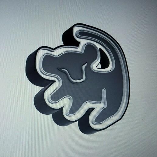 IMG20210113222103.jpg Download STL file LION KING SIMBA ( LION KING ) ILLUMINATED POSTER. • Template to 3D print, librexviii