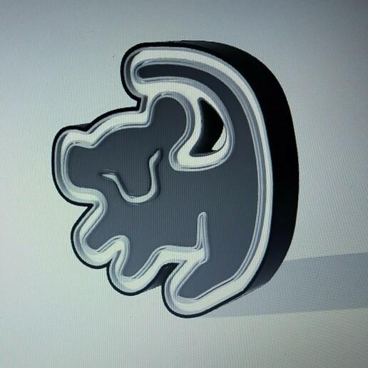 IMG20210113222055.jpg Download STL file LION KING SIMBA ( LION KING ) ILLUMINATED POSTER. • Template to 3D print, librexviii
