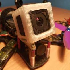 Download free 3D printer templates GoPro mount 25 - martian, alien, corristo25