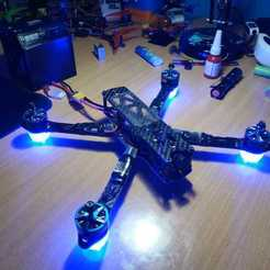 WhatsApp_Image_2020-01-16_at_21.28.57.jpeg Download free STL file LED arm foot for racing drone (matek) • 3D printing design, corristo25