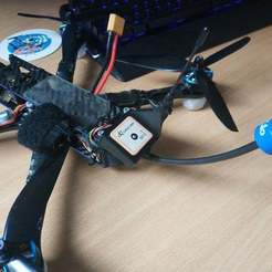 Download free 3D printer designs Martian Alien GPS + immortalT + vtx mount for Long Range, corristo25