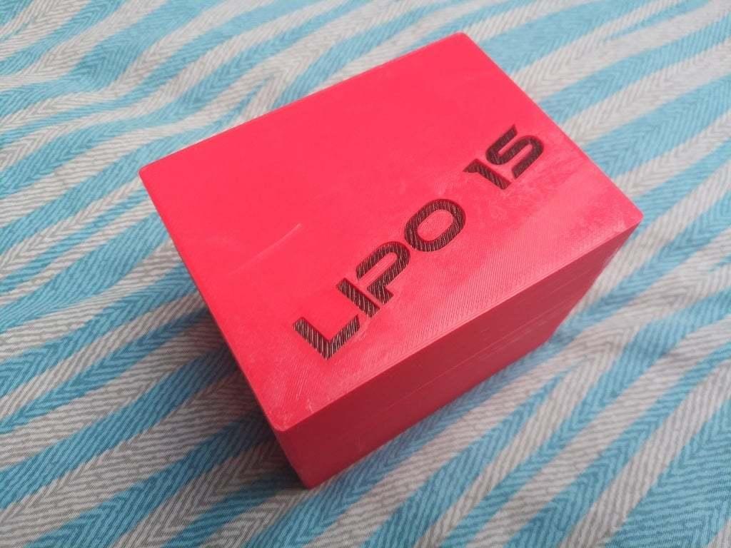 2019-05-07_10.58.27.jpg Download free STL file LiPo 1s storage box • 3D printable object, corristo25