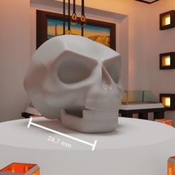 2.png Télécharger fichier STL Casque à tête de mort pour casque à tête plate • Design pour imprimante 3D, Escraphy