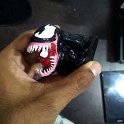 IMG_20201021_084628.jpg Download free STL file Marvel Venom Spiderman Bust • 3D printable template, puskar