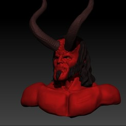 Hellboyfinish.jpg Télécharger fichier STL Port de Hellboy • Objet pour imprimante 3D, Irrational_Scum