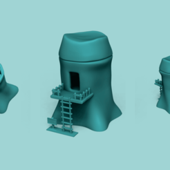 MAIN image.png Download STL file Link Tree House - Zelda Ocarina of Time • 3D printing template, gui_sommer