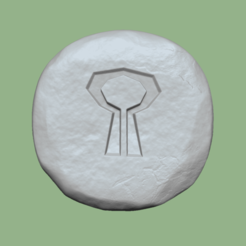 nature 1.png Download STL file Nature Rune - Runescape - STL Keychain • Model to 3D print, gui_sommer