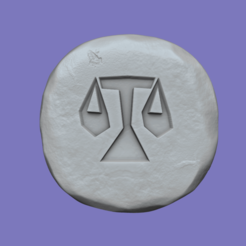 law 1.png Download STL file Law Rune - Runescape - STL Keychain • 3D printable template, gui_sommer