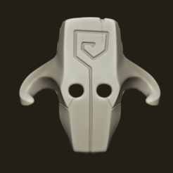 jugger render main.png Download STL file Juggernaut Mask - Dota 02 - Cosplay • 3D printer template, gui_sommer