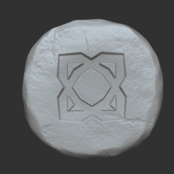 element 1.png Download STL file Elemental Rune - Runescape - STL Keychain • 3D print model, gui_sommer