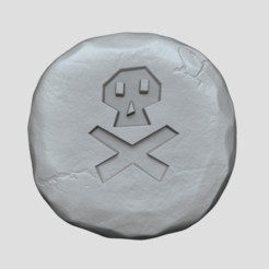 death 1.png Download STL file Death Rune - Runescape - STL Keychain • 3D printing design, gui_sommer