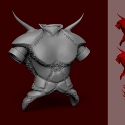 Download 3D printing files Tibia Demon Armor - KeyChain Miniature, gui_sommer
