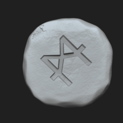 calalytic 1.png Download STL file Catalytic Rune - Runescape - STL Keychain • 3D printing design, gui_sommer