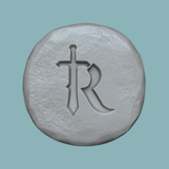 rs 1.png Download STL file Runescape Symbol - Rune - STL Keychain • 3D printer template, gui_sommer