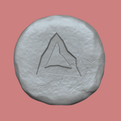 lava 1.png Download STL file Lava Rune - Runescape - STL Keychain • Design to 3D print, gui_sommer