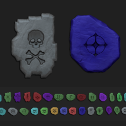 presentation image.png Download OBJ file Tibia Runes PACK - All Runes CGI and Printable • 3D print object, gui_sommer