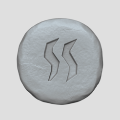 steam 1.png Download STL file Steam Rune - Runescape - STL Keychain • 3D printing design, gui_sommer