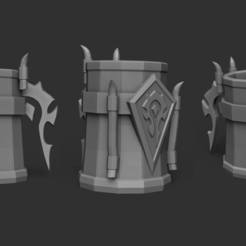Download 3D printing designs World of Warcraft Horde - Mug - Printable, gui_sommer