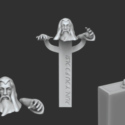 Download 3D printing designs Gandalf Bookmark - Lord of the Rings Creative, gui_sommer