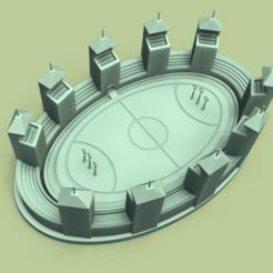 render 5.png Télécharger fichier STL Poudlard - Champ de Quidditch - Miniature STL - Harry Potter • Plan pour impression 3D, gui_sommer