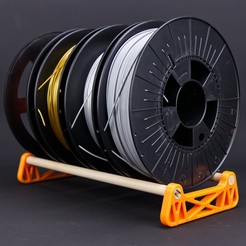 Download free STL file filament spool stand, MrPostrip