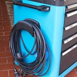 IMG_8182_lowquality.jpg Télécharger fichier STL gratuit support de câble et de tuyau pneumatique pour chariot porte-outils Hazet • Objet pour impression 3D, MrPostrip