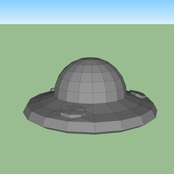 ovni.jpg Download STL file UFO UFO low poly • Template to 3D print, fedepascotto