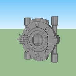 puerta de seguridad.jpg Download STL file Security door • Model to 3D print, fedepascotto