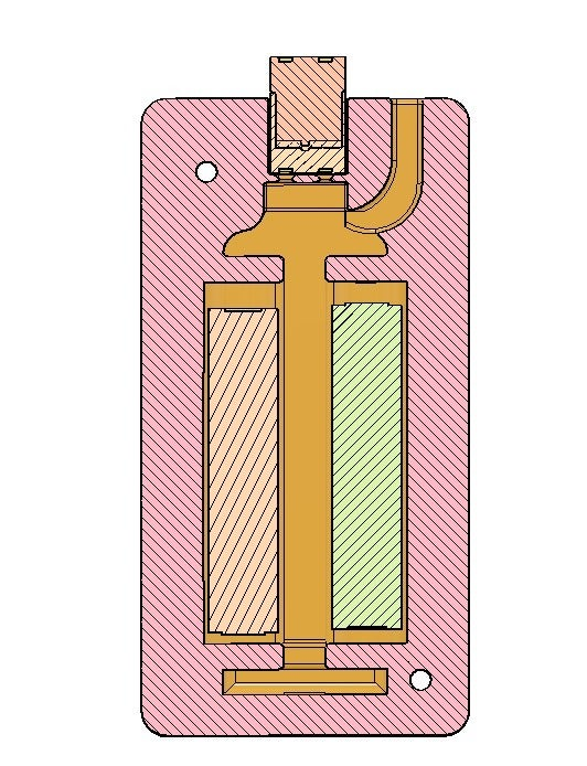 2.PNG Télécharger fichier OBJ gratuit Affaire de la batterie Li Ion 18650 2S [fichier OBJ] • Design pour imprimante 3D, timofteadrianandrei