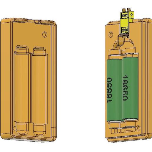 1.PNG Télécharger fichier OBJ gratuit Affaire de la batterie Li Ion 18650 2S [fichier OBJ] • Design pour imprimante 3D, timofteadrianandrei